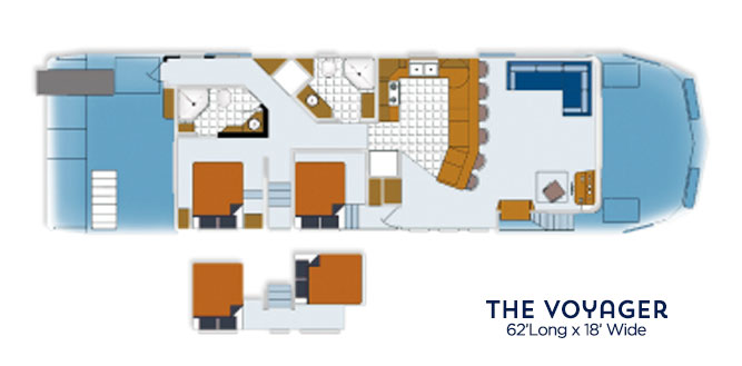 Voyage houseboat floor plan